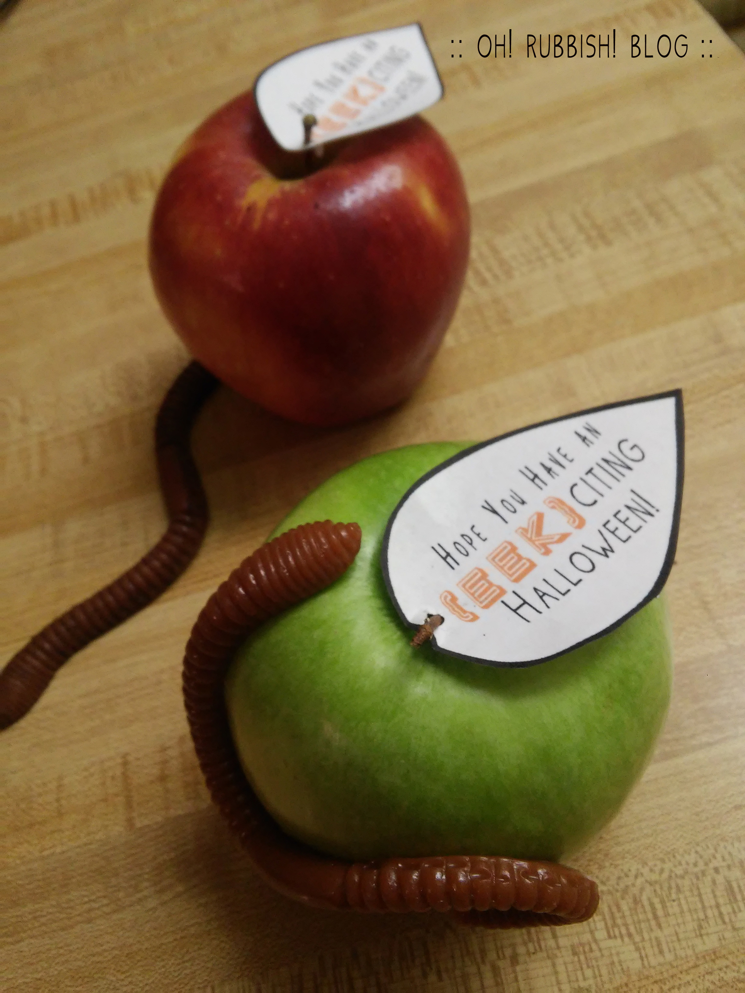 Hope you Have an EEK-citing Halloween :: Teacher Gift Idea :: oh! rubbish! blog