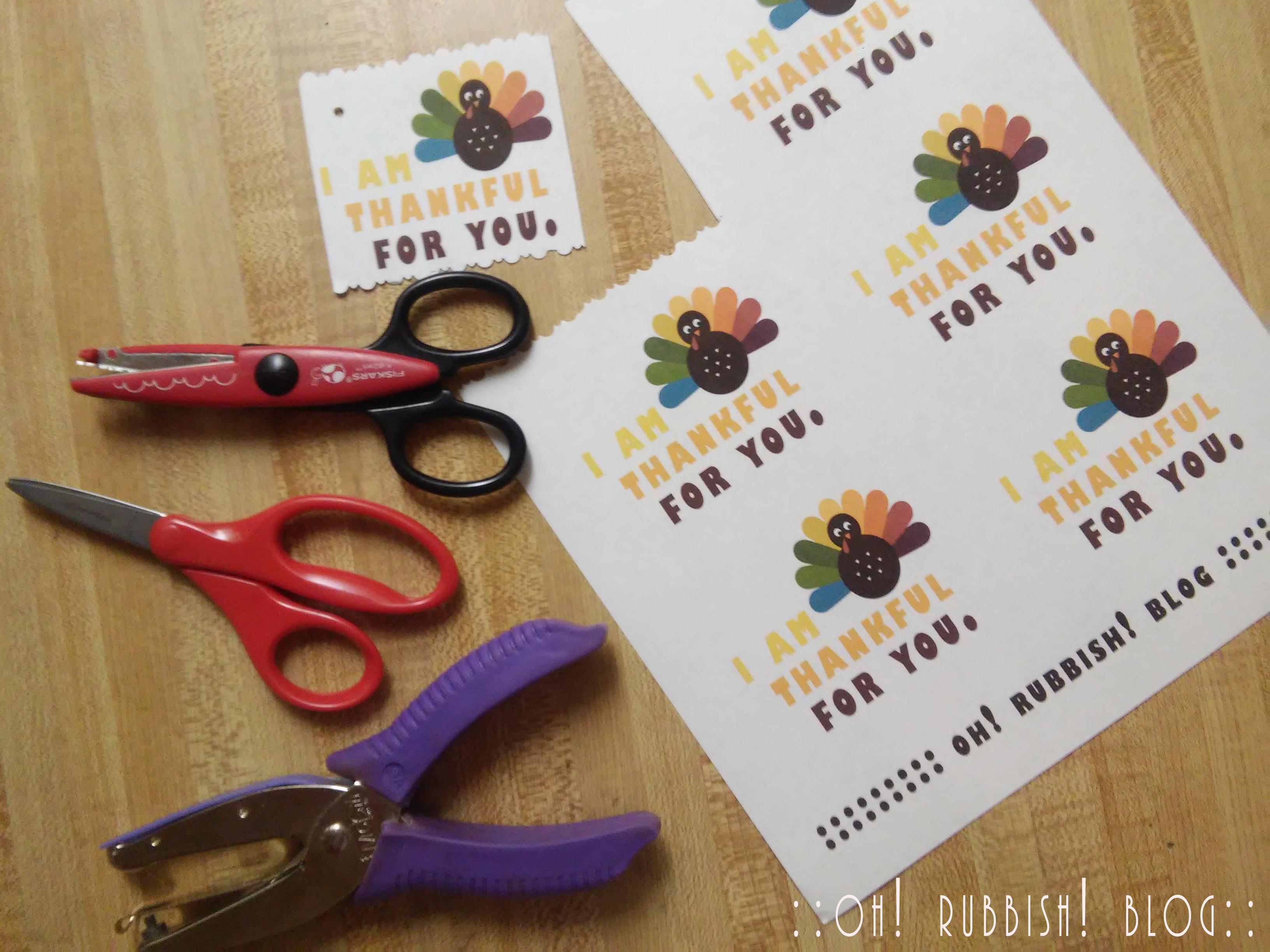 I AM THANKFUL FOR YOU : Edible Cornucopia Thanksgiving Class Favor Treats by oh rubbish blog