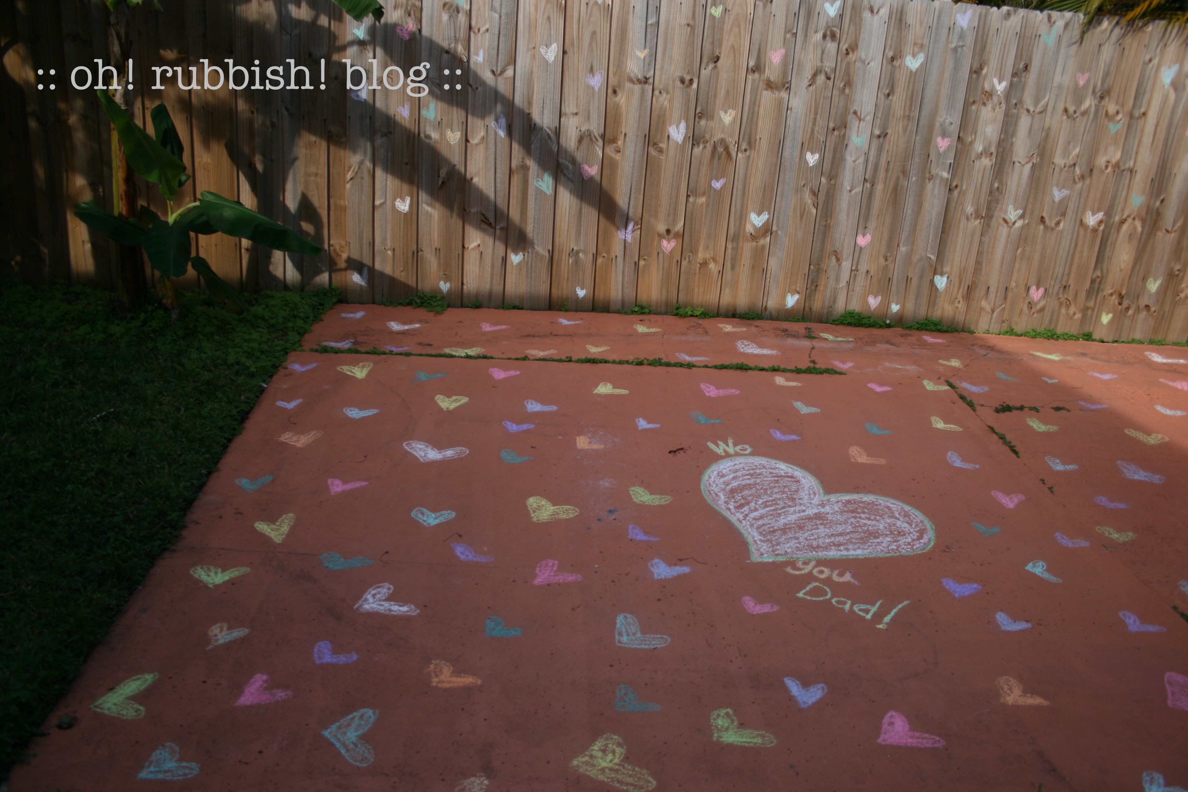 I Love You THIS MUCH Chalk Heart Art Valentines