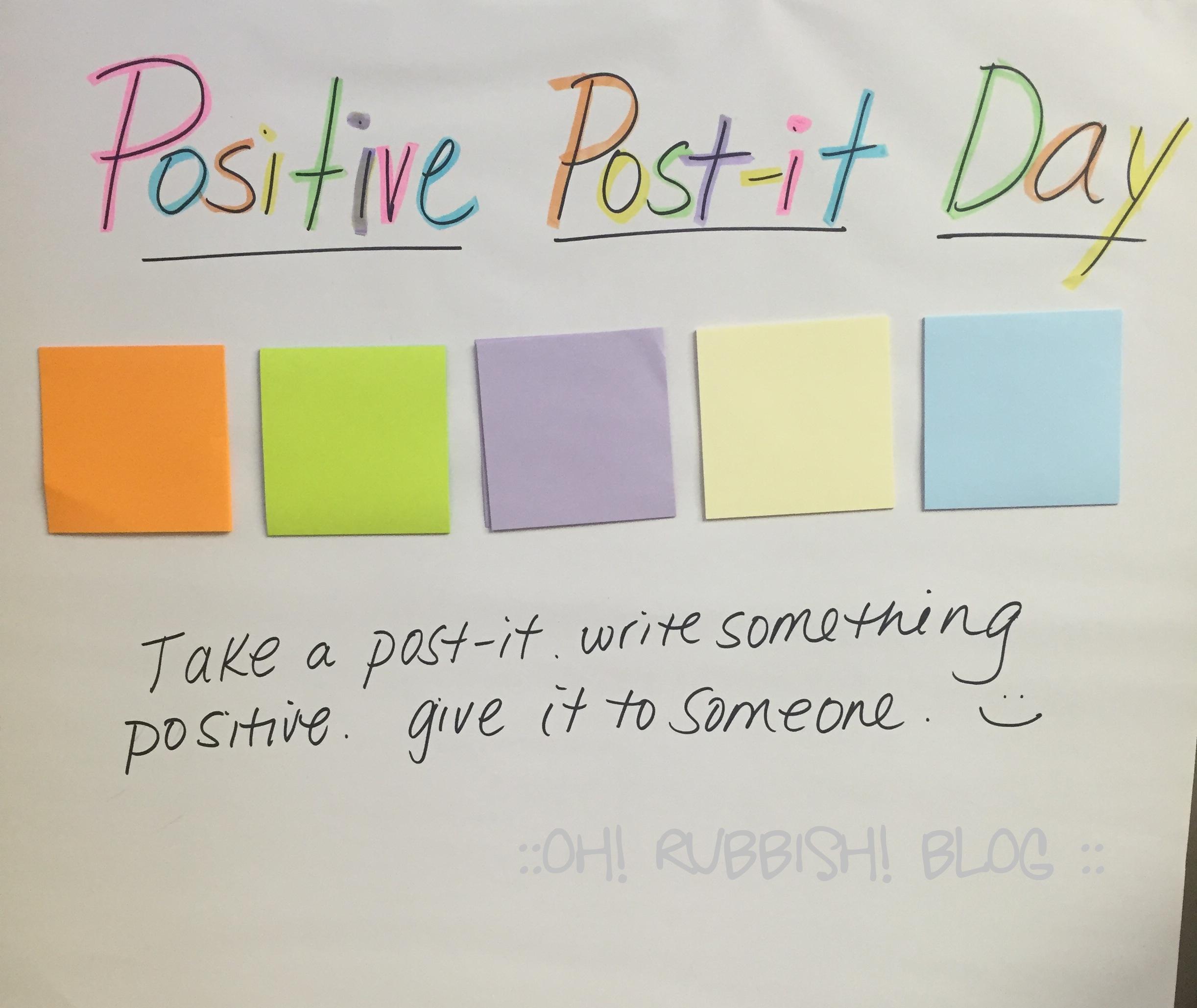 #positivepostit