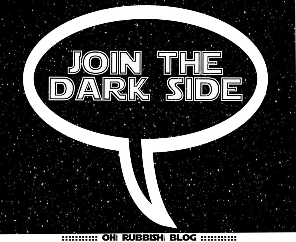 Join the Dark Side Speech Bubble PRINTABLE