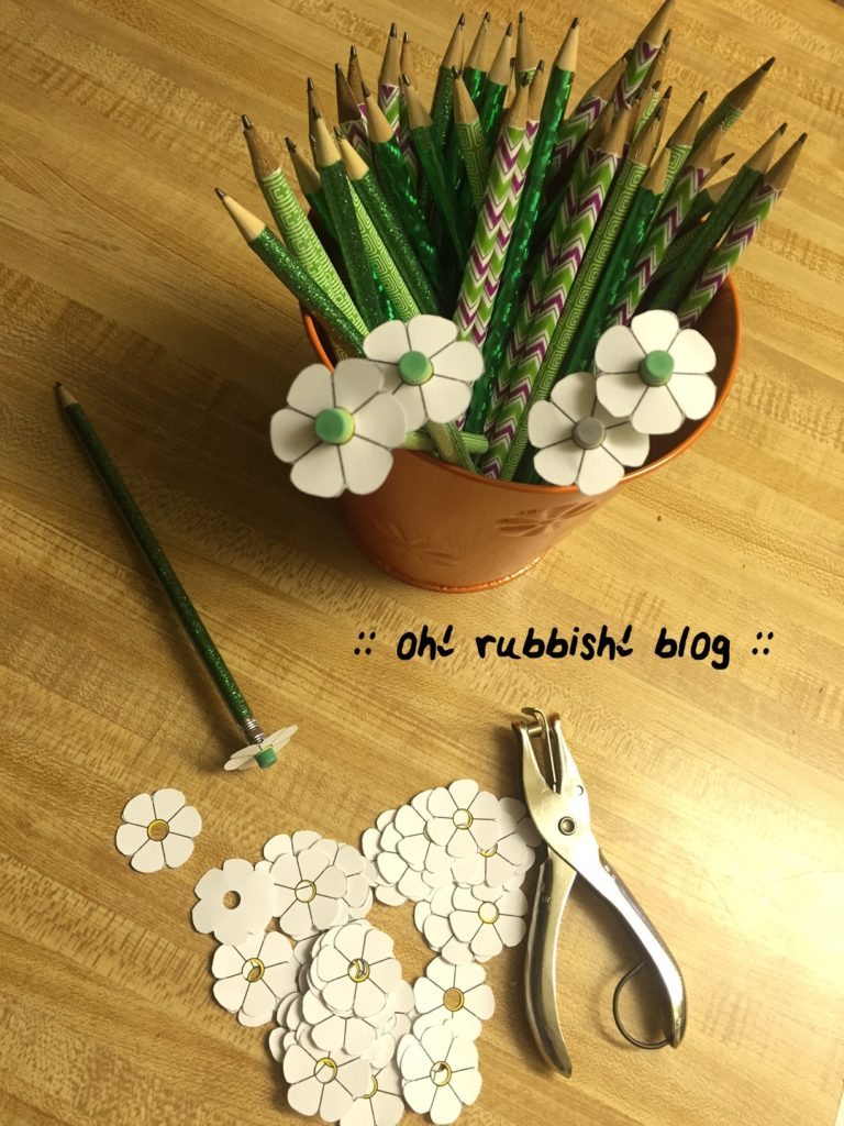 thanks a bunch     pencil flower bouquet    teacher