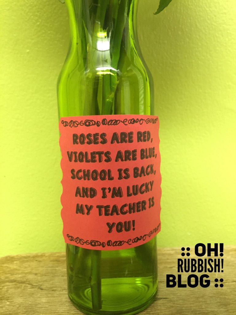 Roses are Red Poem :: Back to School Teacher Gift Idea :: by oh! rubbish! blog