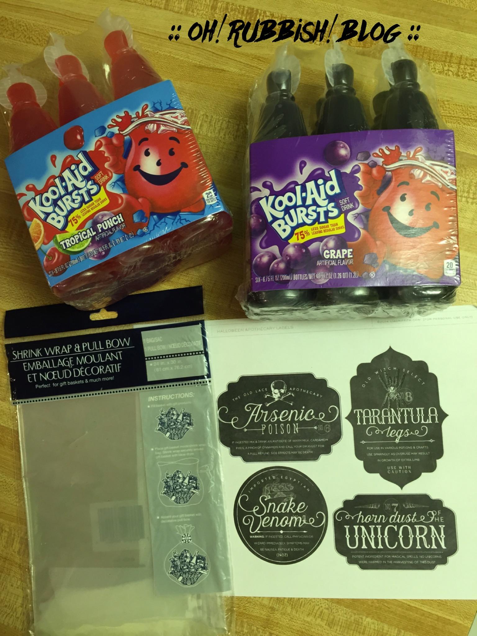 Halloween Classroom Idea ~ Halloween apothecary party food ideas