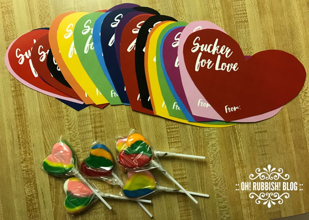 Sucker For Love Lollipop Valentines Day Favors