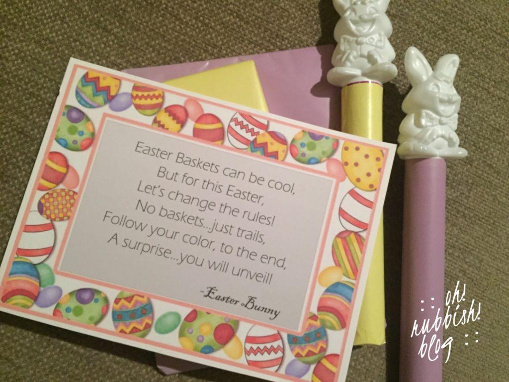 Easter Trails :: Easter Basket Alternative :: oh! rubbish! blog